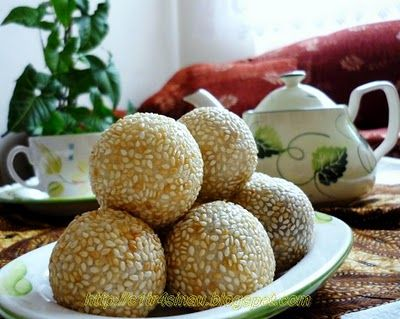 Onde-Onde (Indonesian traditional Snack) ~ My Home Diary in Turkey