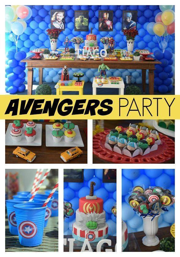 Awesome Avengers Birthday Party Ideas - Pretty My Party #avengers #boys #birthday #party #ideas #partyplanning