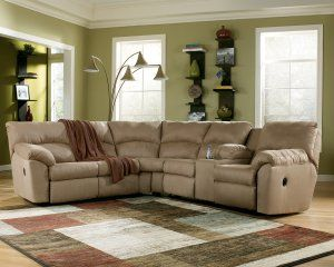 Amazon Mocha Reclining Microfiber Sectional by Ashley Furniture Reviews