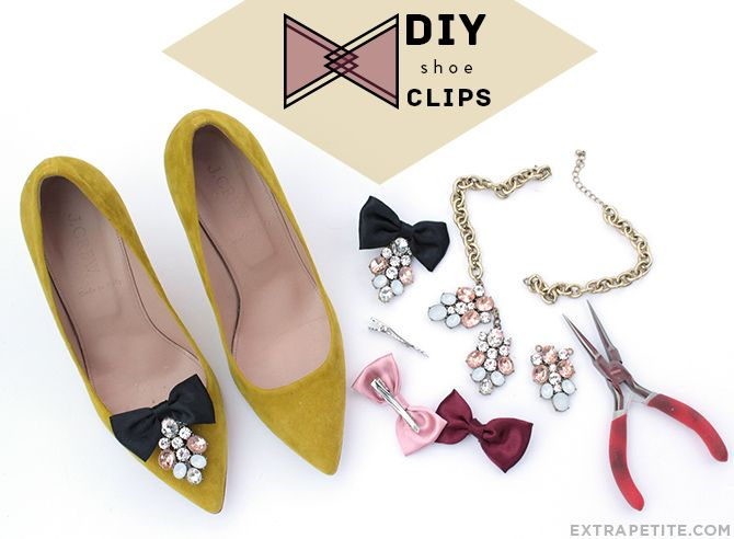 #DIY shoe clips tutorial - easy way to change up the look of your shoes