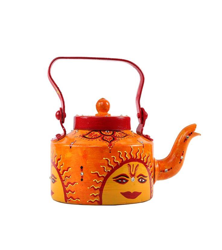 Sunny side designer tea kettlee for home buy from #craftshopsindia