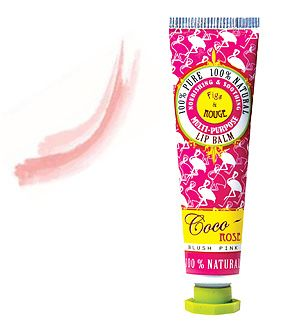 Figs & Rouge - Coco Rose Lip Tint - 12.5 ml Nourishing & Soothing for all skin types. 100% Pure - 100% Natural - Petroleum Free Shimmering Blush Pink Tint for a touch of Glamour! Replenishing & long-lasting. Delicious moisture protection.
