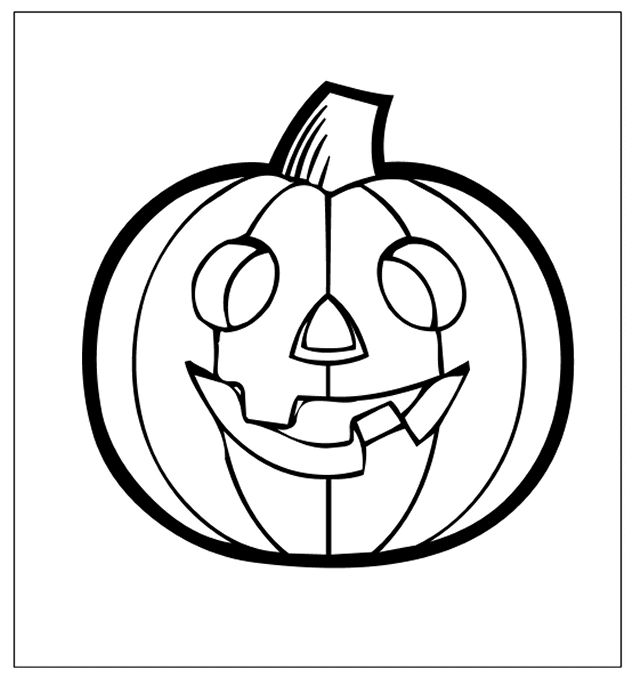 Pumpkin Coloring Pages For Kids Printable
