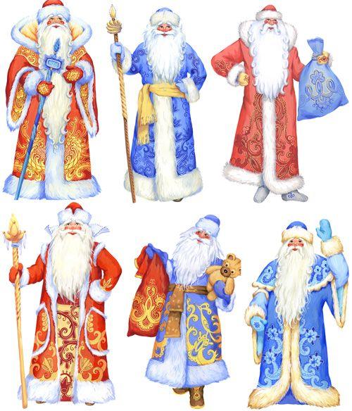 Клипарт Дед Мороз для оформления стендов