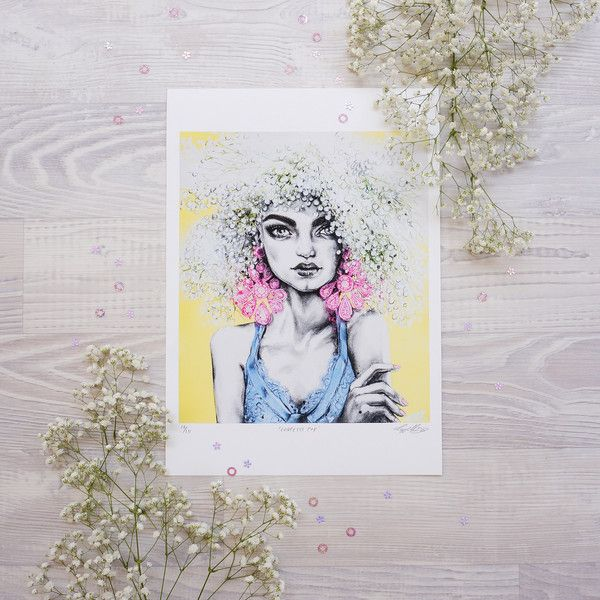 'Confetti Pop' print by fashion illustrator Pippa McManus. Available from www.pippamcmanus.com Flatlay by @ahoycapnmueller
