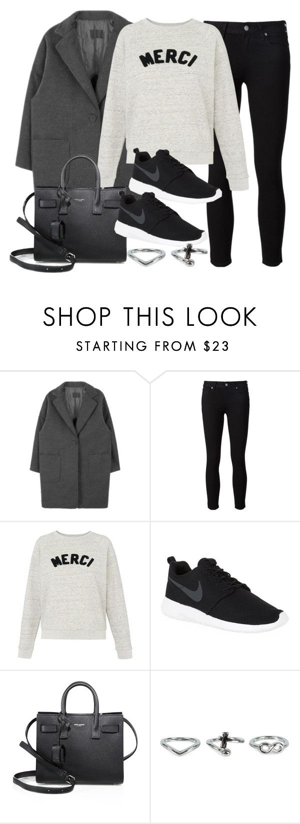 """""""Sin título #12003"""" by vany-alvarado ❤ liked on Polyvore featuring Paige Denim, Whistles, NIKE, Yves Saint Laurent and NLY Accessories"""