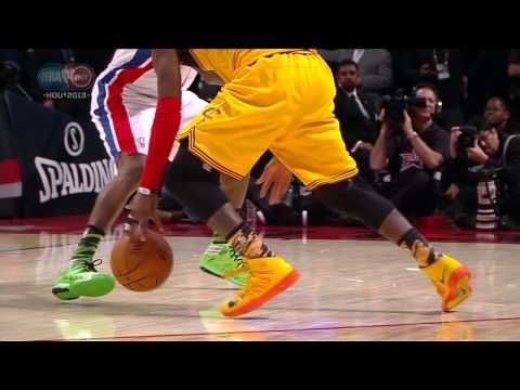 Kyrie Irving makes Brandon Knight fall!