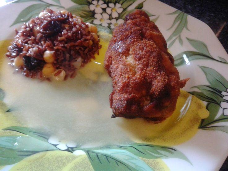 Una abogada en la cocina: Filetes rellenos con arroz rojo salteado con garba...