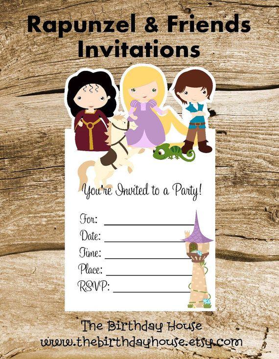 Best 25 Rapunzel invitations ideas – Rapunzel Party Invitations