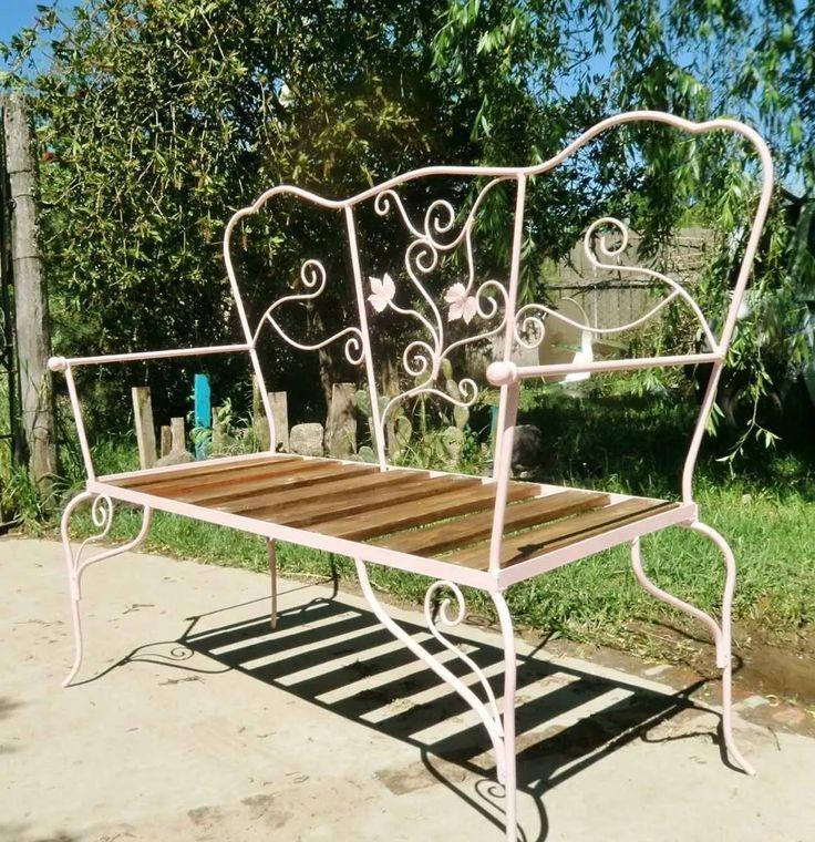 sillón de hierro banco dos cuerpos