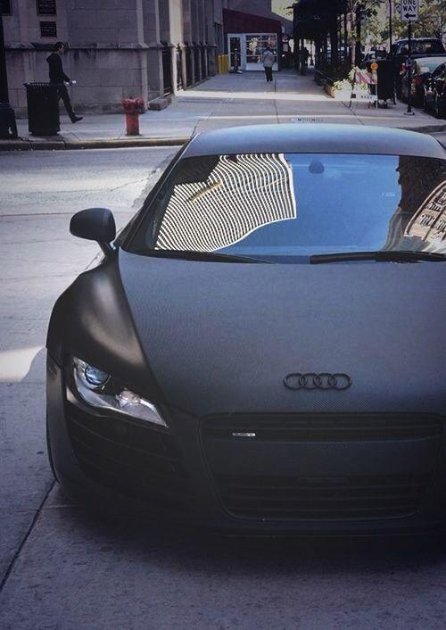 Audi Dream Car Matte Black Hot Rich Life Luxury Bedroom