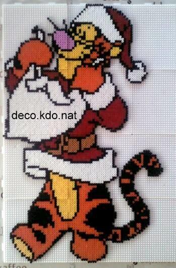 Tigger Christmas hama beads by deco.kdo.nat: