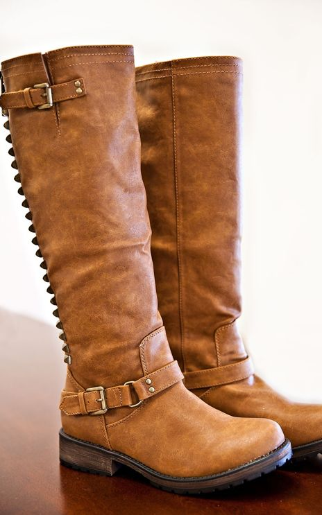 Dusty Road Studded Boots from Gypsy Outfitters -  Boho Luxe Boutique (Size 7 & Brown :) )