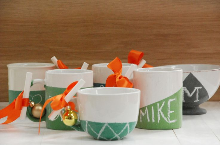 Diy Gift Ideas Chalkboard Mugs The Home Depot