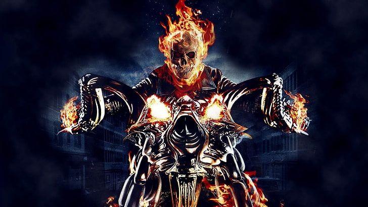 Ghost Rider Wallpaper Skull Fire Motorcycle Comics Graphic Novels Hd Wallpaper Ghost Rider Wallpaper Ghost Rider Motorcycle Ghost Rider