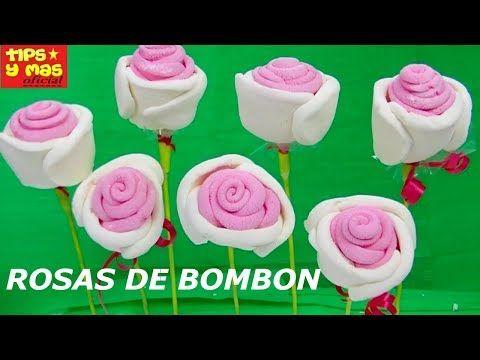 ROSAS DE BOMBON FACILES Y ECONOMICAS PARA REGALAR O VENDER - YouTube