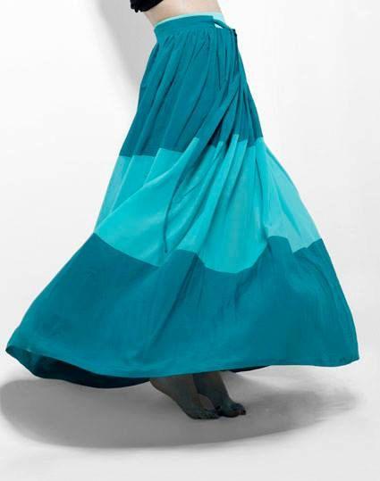 Maxi jupe, jupe longue, plancher jupe, jupe en cercle complet, bleue grande taille jupe, jupe Maxi Boho, Festival jupe, jupe de plage, jupe Casual