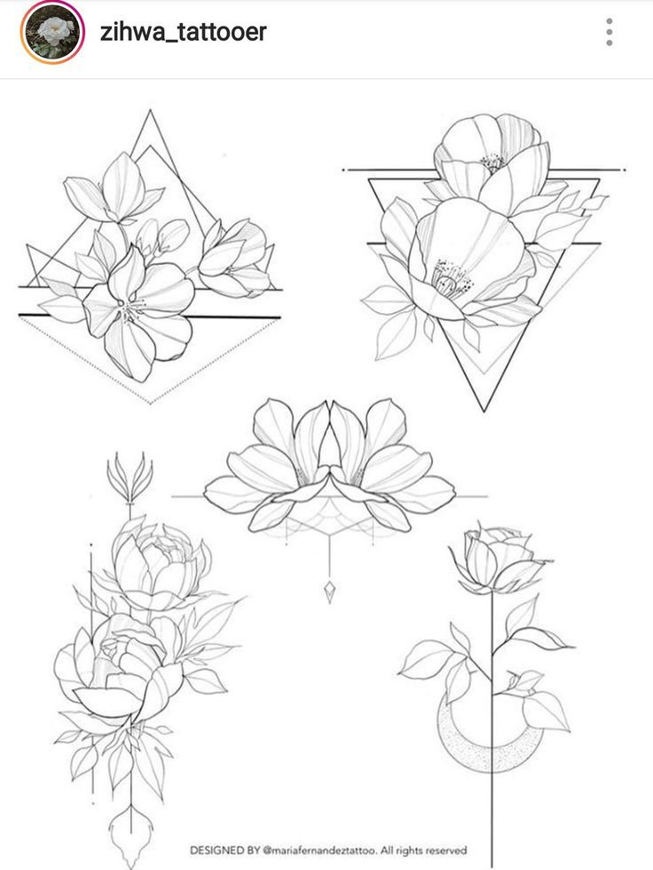 Flowers & geometric – #cherryblossom #flowers #geometric – model