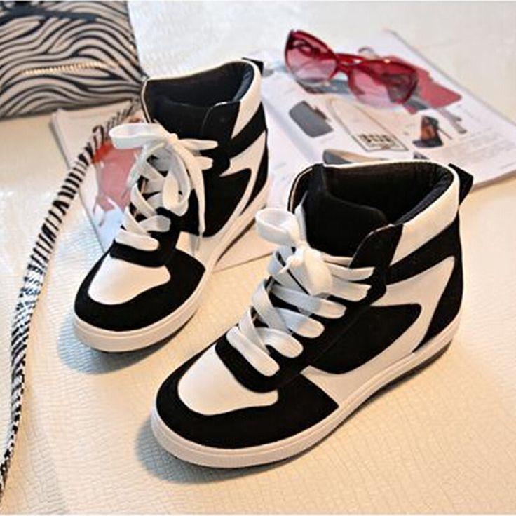 Женщины обувь женская скрытый каблук увеличение высоты высокие женщины свободного покроя клинья тренд обувь женщины холст купить на AliExpress