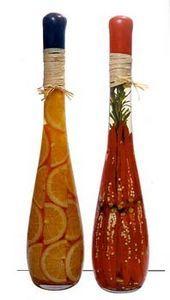 декоративные бутылки с овощами и фруктами, декор кухни, украшение кухни, как сделать декоративную бутылку своими руками
