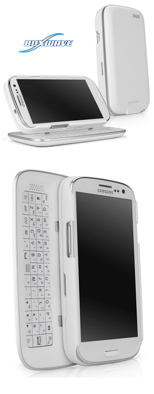Yep!! Here comessssssss the NEW WHITE Bluetooth ➷Keyboard Buddy case➷@BoxWave Galaxy S3 Case!!