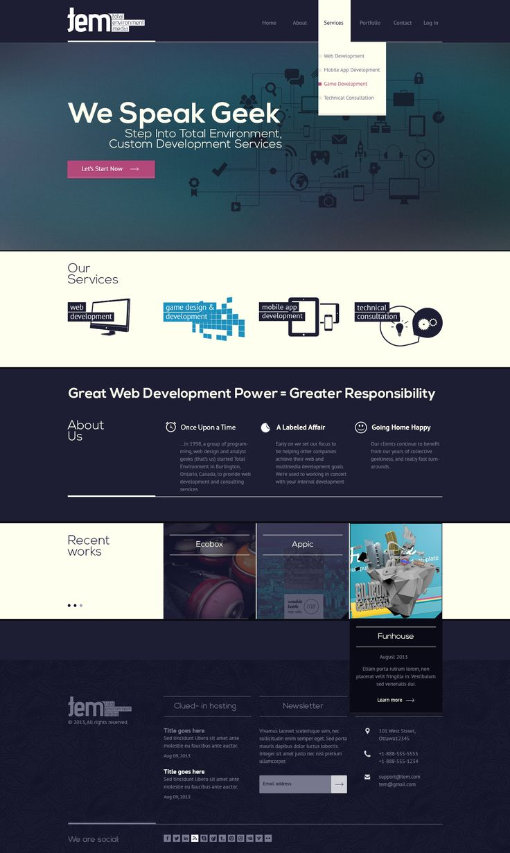 Responsive One-page Website Design  by moz3r - 38745