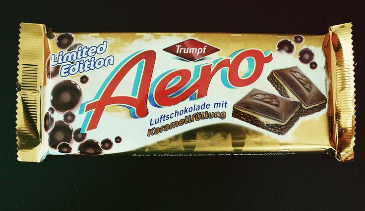 Aero Luftschokolade mit Karamellfüllung – Limited Edition – von Trumpf