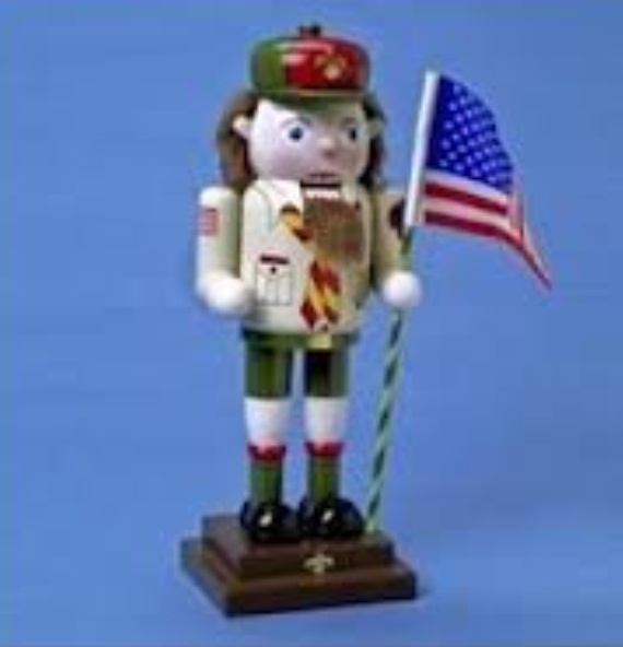 Scout Nutcracker We Own This I Found It On Clearance At Hobby Lobby Cub Scout Ideas