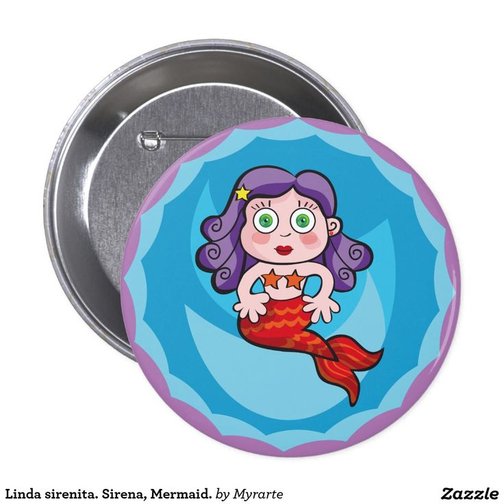 Linda sirenita. Sirena, Mermaid. Producto disponible en tienda Zazzle. Product available in Zazzle store. Regalos, Gifts. Link to product: http://www.zazzle.com/linda_sirenita_sirena_mermaid_button-145844815399033158?CMPN=shareicon&lang=en&social=true&rf=238167879144476949 #chapa #button #sirena #mermaid