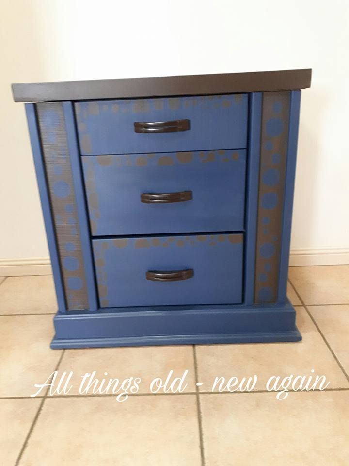 Upcycled bedside table - for sale $80