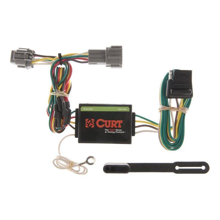 CURT Custom Vehicle-Trailer Wiring Harness, 4-Way Flat ...