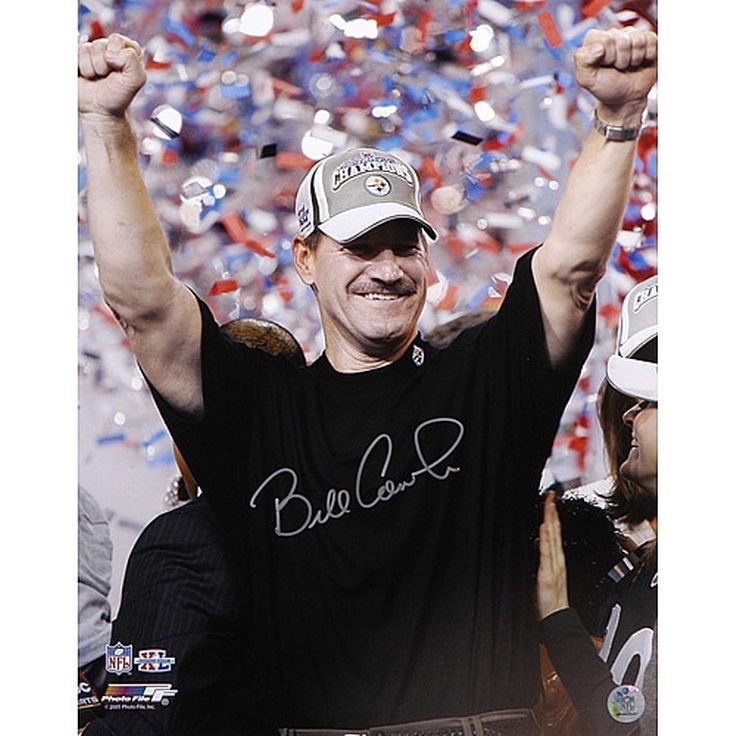 """Bill Cowher Pittsburgh Steelers Fanatics Authentic Autographed 16"""" x 20"""" Super Bowl Hands in Air Vertical Photograph - $134.99"""