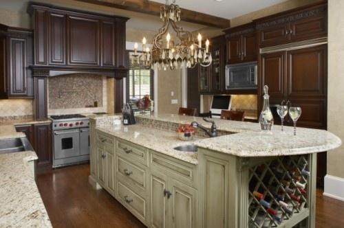 Cabinets, Wine Racks, Kitchens Design, Traditional Kitchens, Dreams House, Rustic Kitchens, Kitchens Ideas, Kitchens Islands, Kitchens Photos