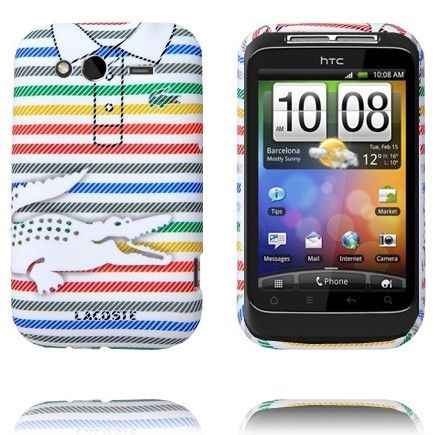 Croco Shirt (Pinstripe Regnbue) HTC Wildfire S Cover