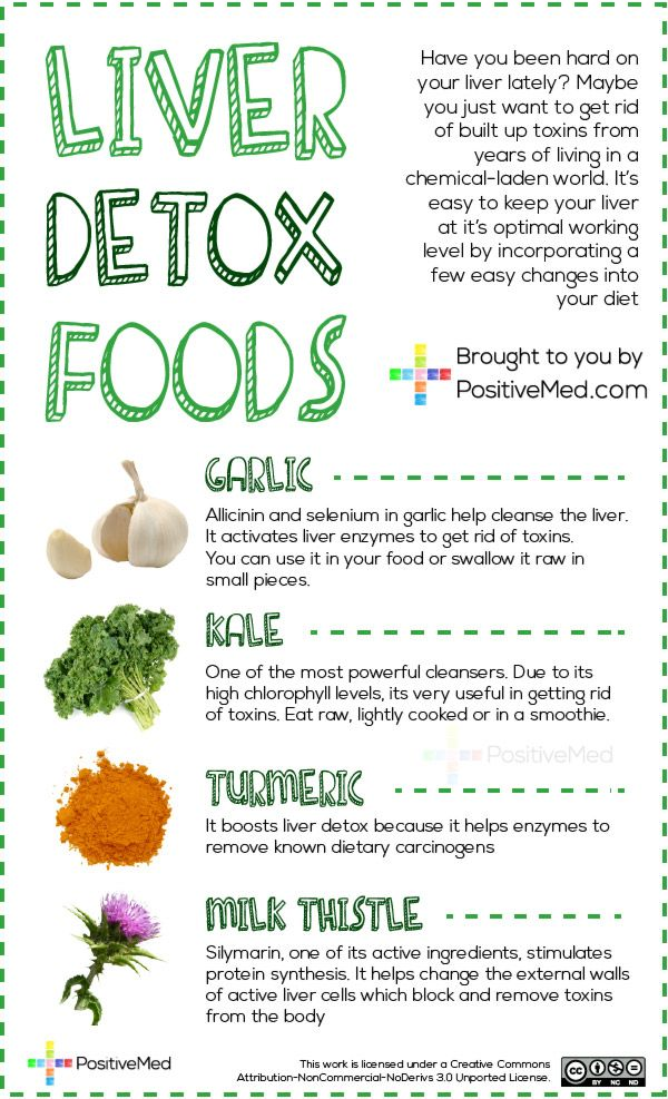 Liver Detox Foods Have you been hard on your liver lately? Maybe you just want to rid your body of built up toxins from years of living in a chemical-laden world. It's easy to keep your liver at its optimal working level by incorporating a few easy changes into your diet