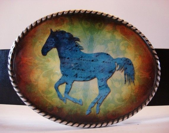 Belt Buckle  Horse with no Name by MnMTreasures on Etsy, $20.00