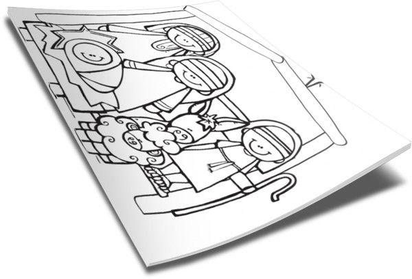 Christmas Nativity Coloring Page http://www.childrens-ministry-deals ...