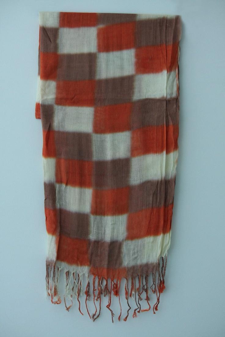 Scarf - Brand New! checked scarf - 3 tone colours - Christianto | eBay