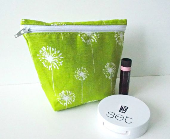 Cosmetic Pouch  Small Makeup Bag  Toiletry Bag  by PlatoSquirrel