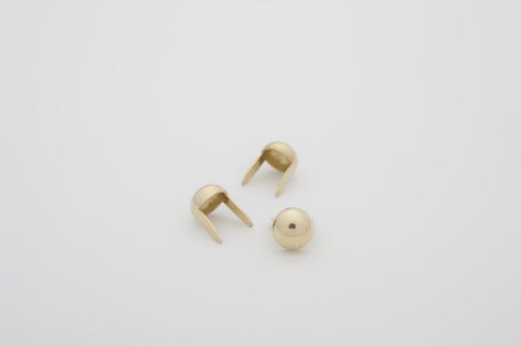 """stud - Dome Tiny 1/4"""" Brass  ☆ Bag of 100 - $2.92 ☆ Bag of 500 - $13.93 ☆ Bag of 1000 - $25.69"""