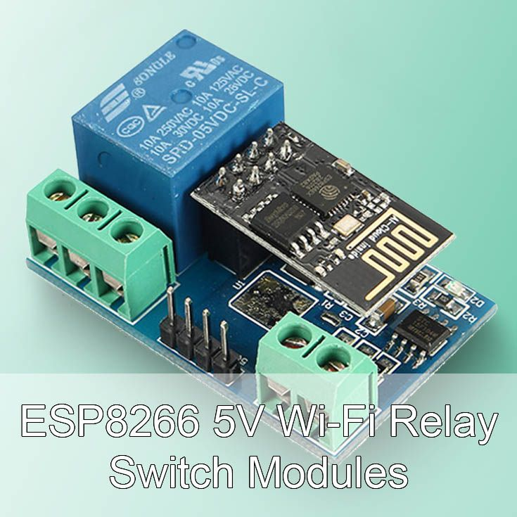 ESP8266 5V Wi-Fi relay switch modules