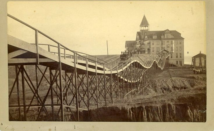 The 125-room Arcadia Hotel opened on January 25, 1887. It was one of the landmark hotels of the era. This is the roller coaster at the hotel.