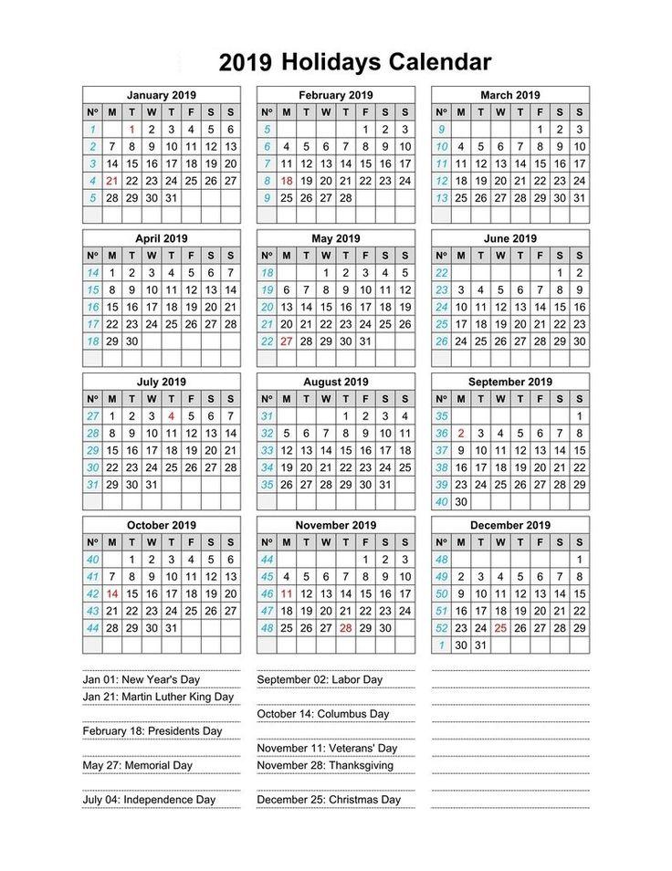 2019 Calendar With Indian Holidays Monthly Calendar