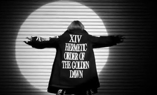 """Ciara's video """"Super Turnt Up"""" is basically all about her being draped in that gigantic coat with matching boots. In short, it is written all across her """"Hermetic Order of the Golden Dawn"""", a powerful secret society of the early 20th century in which was famously initiated Aleister Crowley. In short, the Golden Dawn is one of the ancestors of the secret societies that are in power today…and Ciara is dancing around with that name written all over her. I guess we know who owns her."""