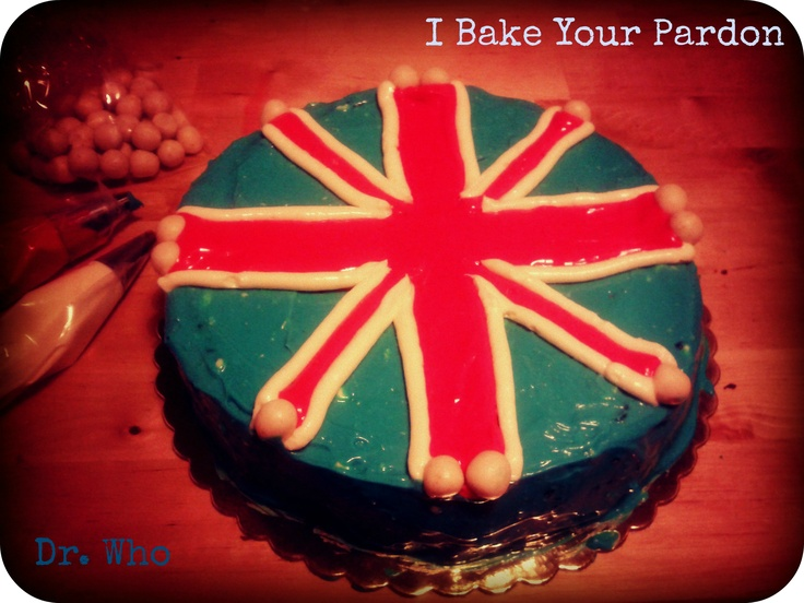 Dr Who cake (chocolate, cream cheese and apricots) custom made for an anglophile friend - www.ibakeyourparodn.com