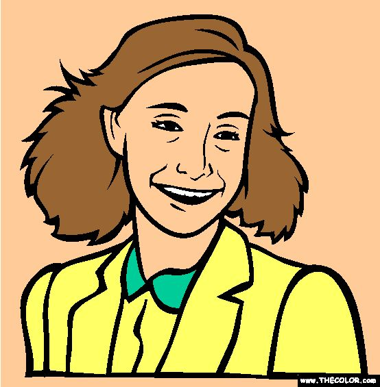 free anne frank coloring pages - photo#17