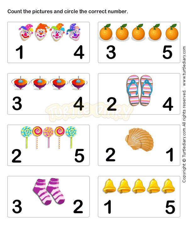 Learn Numbers Worksheet4 - math Worksheets - preschool Worksheets