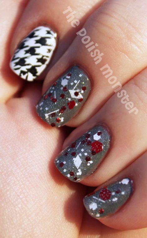 pride Nails   Alabama Crimson Tide Nail Art