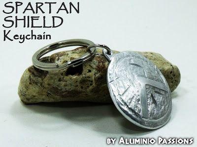 Aluminio Passions: King Leonidas Shield Aluminum Keychain