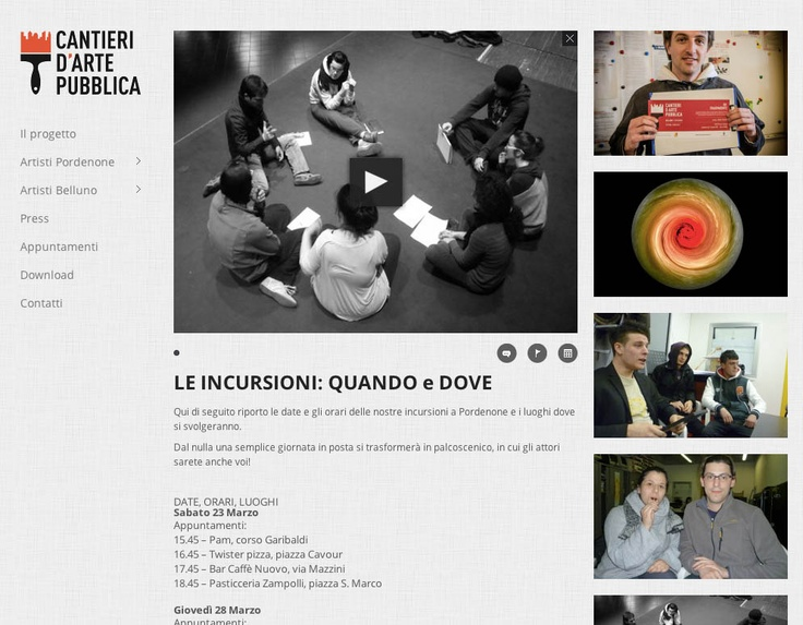 Cantieri dArte Pubblica - Larin Communication